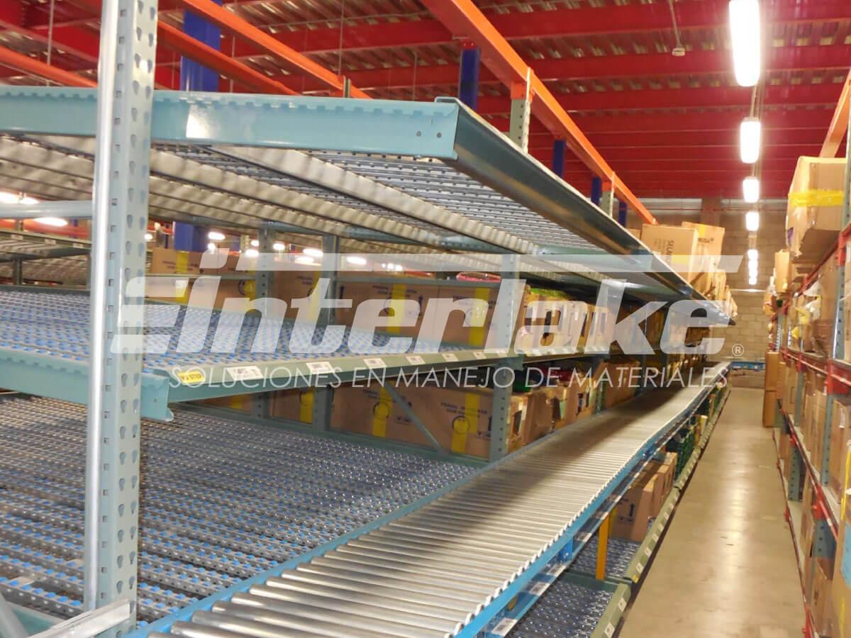 El sistema de almacenaje llamado carton flow rack